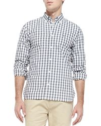 Lacoste Gingham-check Poplin Shirt - Lyst