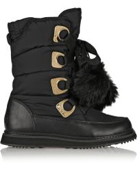 DKNY Verna Shell and Faux Fur Boots - Lyst