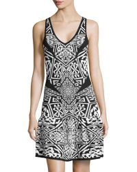 Nicole Miller Sleeveless Sweater Knit Dress - Lyst