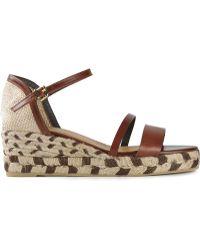 Castaner - Double Strap Wedge Sandals - Lyst