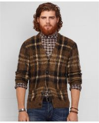 Denim & Supply Ralph Lauren Plaid V-Neck Cardigan - Lyst