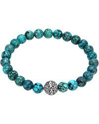 John Hardy Turquoise Large Beaded Bracelet - Lyst