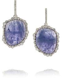 Kimberly Mcdonald - 18karat White Gold Tanzanite and Diamond Earrings - Lyst