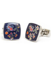 Duchamp Silver-tone  Navy Berry Berry Cuff Links - Lyst