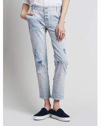 Free People Womens Mountaineer Relaxed Jean - Lyst