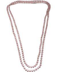Tom Binns - Long 3 Strand Crystal Necklace - Lyst