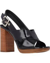 Prada Crisscross-Strap Slingback Sandals - Lyst