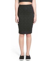 Lush - Textured Knit Pencil Skirt - Lyst