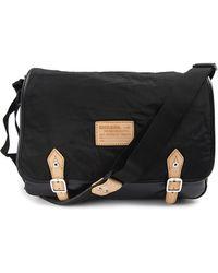 Diesel Flappy Messenger Black Bag - Lyst