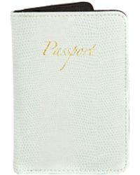 Asos Passport Holder in Mint Snake - Lyst