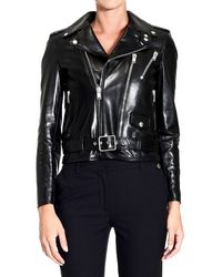 Saint Laurent Jacket Leather Motor - Lyst