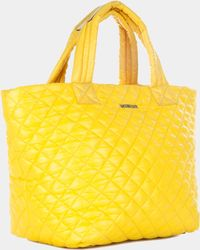 MZ Wallace Small Metro Tote Bright Yellow Oxford - Lyst