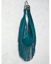 Free People | Totem Salvage Womens Willow Fringe Hobo | Lyst