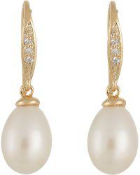 Ashiana - Women's Pave & Pearl Drop Earrings - Lyst