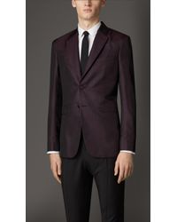 Burberry Modern Fit Patterned Silk Jacket - Lyst