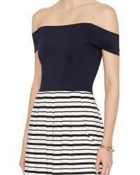 Nadia Tarr - Exclusive Striped Off The Shoulder Jumpsuit - Lyst
