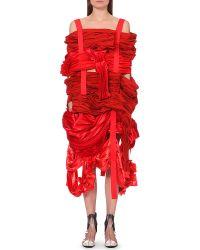 Comme des Garçons Ruched-Panel Satin Dress - For Women - Lyst