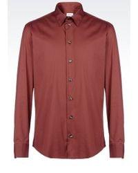 Armani Long Sleeve Shirt - Lyst