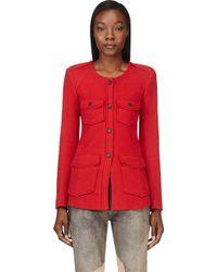 Etoile Isabel Marant Red Wool Joff Jacket - Lyst