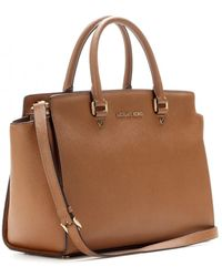 Michael by Michael Kors Selma Leather Tote - Lyst