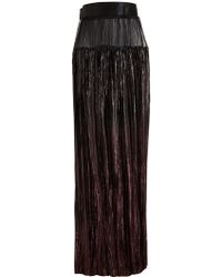 Haider Ackermann Pleated Lurex Skirt - Lyst