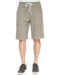 James Perse Twill Cargo Shorts - Lyst