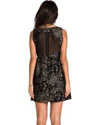 Alice + Olivia 'Ellen' Embellished Dress black - Lyst