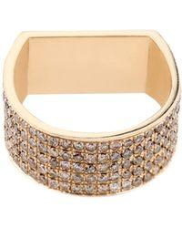 DINA KAMAL DK01 - Diamond & Beige-Gold Id Ring - Lyst