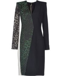 Roland Mouret Black Kneelength Dress - Lyst