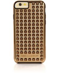 Rebecca Minkoff Studded Iphone 6 Case/Goldtone - Lyst