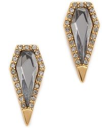 Rebecca Minkoff Clandestine Blade Post Earrings - Black Diamond Crystal - Lyst
