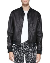 Rag & Bone Leather Zip-front Jacket  - Lyst