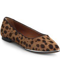 Givenchy Alicia Leopard-print Calf Hair Flats - Lyst