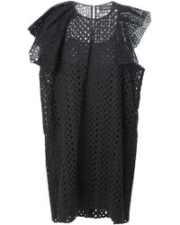 Isabel Marant Perforated Dress - Lyst