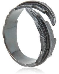 Leivan Kash - Feather Pinky Ring - Lyst