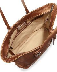Longchamp Lm Cuir Metallic Shoulder Tote Bag Copper - Lyst