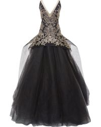 Marchesa Embroidered Tulle Ball Gown - Lyst