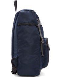 Yohji Yamamoto - Navy Nylon And Leather Backpack - Lyst