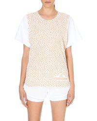 Adidas By Stella Mccartney Run Mosaic Tshirt Whitesoft Powder - Lyst