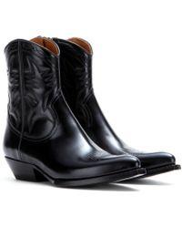 Saint Laurent Leather Boots - Lyst
