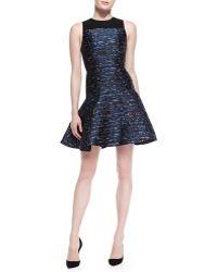 Proenza Schouler Sleeveless Jacquard Flare Dress - Lyst