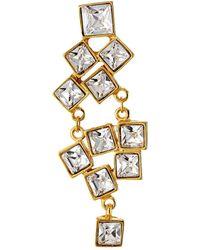 Kenneth Jay Lane Gold Earrings - Lyst