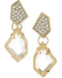 R.j. Graziano - Chip Off The Block Dangle Earrings - Lyst
