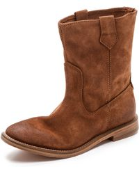 H By Hudson Hanwell Slouchy Boots - Tan - Lyst