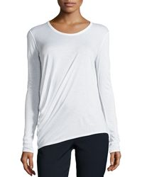 Helmut Lang Kinetic Jersey Long-sleeve Top - Lyst