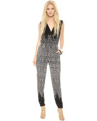 Twelfth Street by Cynthia Vincent Crisscross Jumpsuit Black - Lyst