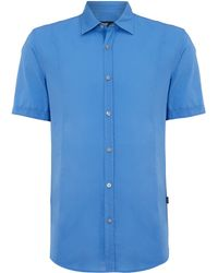 Hugo Boss Poplin Short Sleeve Shirt - Lyst