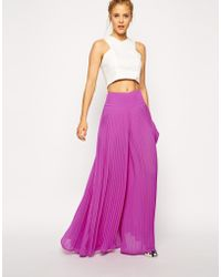Asos Pleated Wide Leg Pants - Lyst