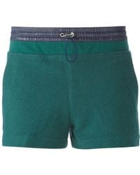T By Alexander Wang Contrasting Waistband Shorts - Lyst