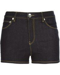 Love Moschino Mid Waist Denim Shorts - Lyst